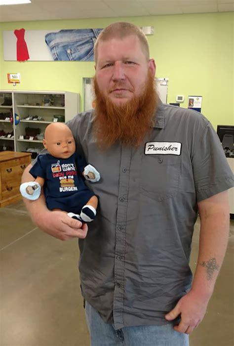 intimidating guy   baby doll shopping