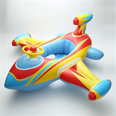 Baby Boat Princess baby airplane toddler infant swimming float seat boat pool ring ride on rider
