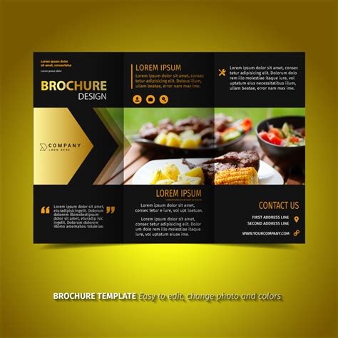 black  gold brochure   vector art stock graphics images
