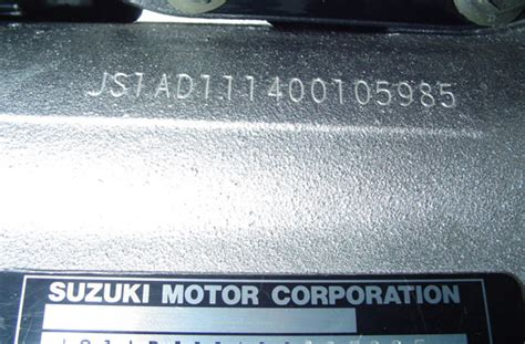 Suzuki Chassis Number Motorcycle Crime Reduction