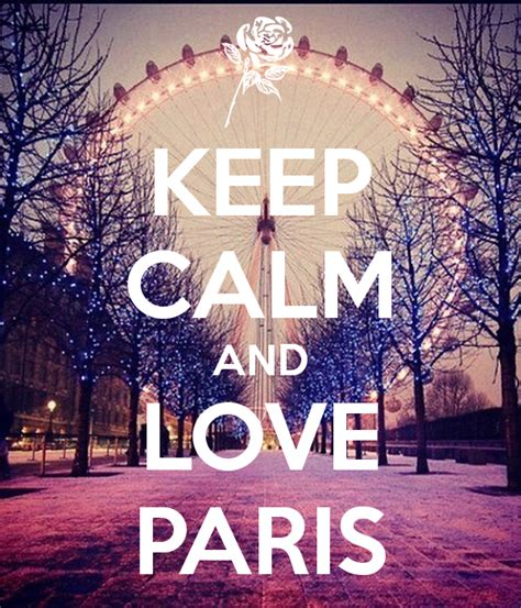 Paris Wall Stickers keep calm and love paris keep calm and carry on image
