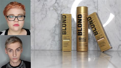How To Use Blonde Brilliance | blond brilliance hair toner review youtube