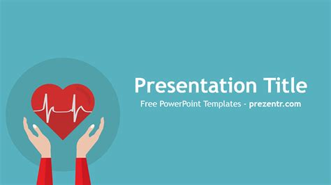 Free Heart Rhythm Powerpoint Template Prezentr Powerpoint Templates Cardiac Powerpoint Template