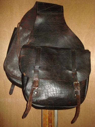 brown motorcycle vintage brown leather motorcycle saddle bags ebay use it