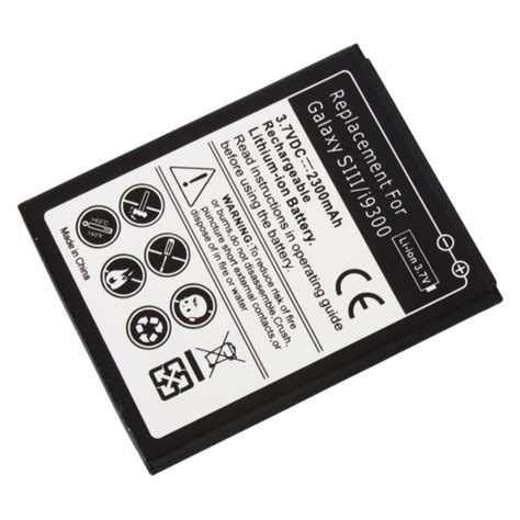 Battery Power Vizz Samsung I9000 2300mah 2300mah rechargeable battery for samsung galaxy siii s3