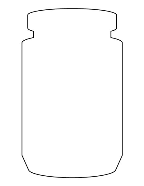 free printable templates for jars jar pattern use the printable outline for crafts