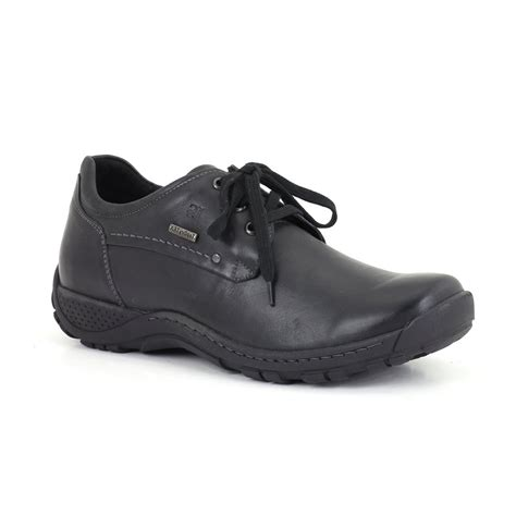 nolan 10 black leather waterproof lace shoe
