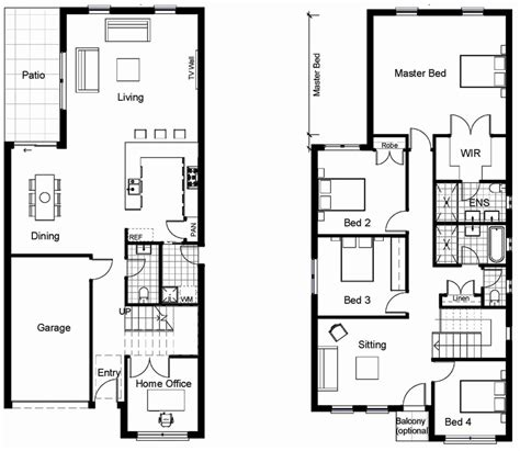small 2 story house plans new small simple two story house