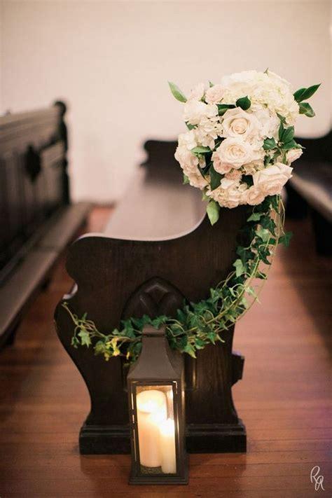 church pew ends wedding aisle decoration ideas  love