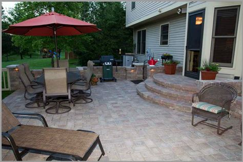 backyard patio ideas with pavers landscaping gardening ideas