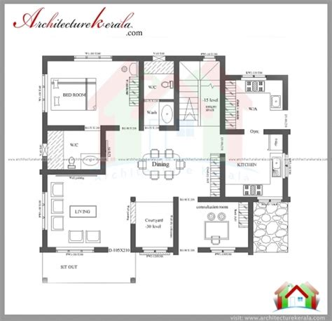 3bhk Keralahouseplanner | fascinating 3 bedroom house plans with photos in kerala