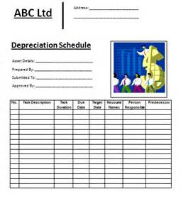 accounting schedule template accounting depreciation schedule images