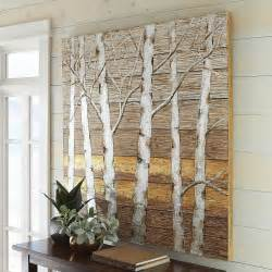 metallic wall decor metallic birch trees wall pier 1 imports
