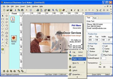 card editor free advanced business card maker 3 1