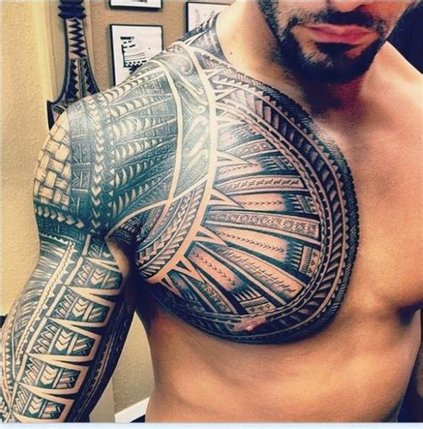 tribal chest piece tattoos top 90 best chest tattoos for manly designs and ideas