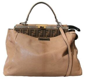 fendi large peekaboo bag  monogram interior ebay