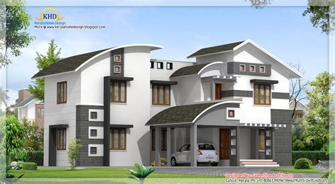 2850 house front contemporary villa design 2850 sq ft kerala home design and floor plans