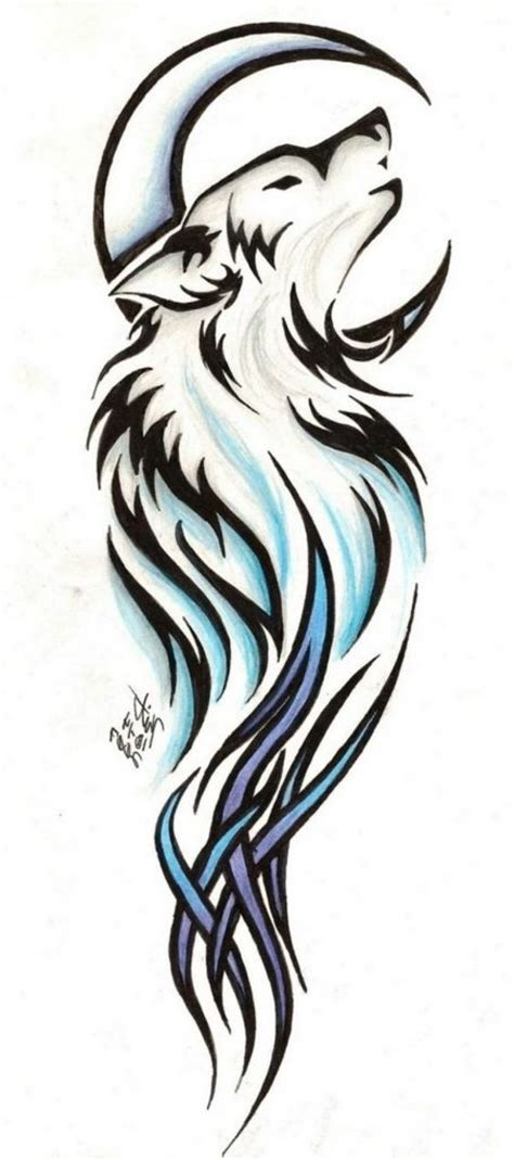 small tribal wolf tattoo best 25 wolf design ideas on