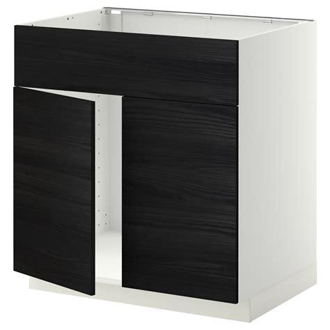 metod base cabinet f sink w 2 doors front black kallarp light green 80x60 cm ikea metod base cabinet f sink w 2 doors front white tingsryd