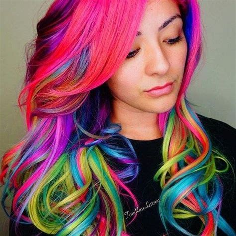 colored hair 25 best ideas about multi coloured hair on