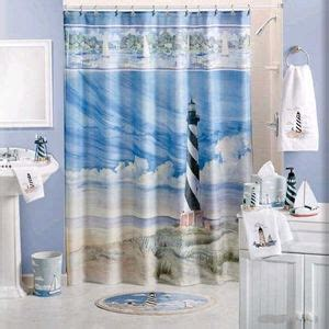 seashore themed shower curtains seashore themed bathroom more seashells than lighthouses