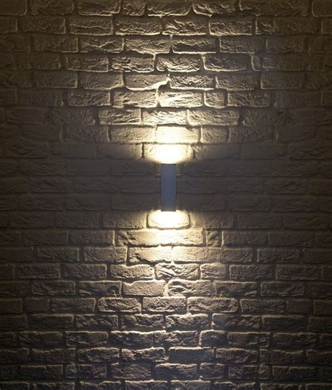 up down lights exterior ip44 square up down wall light h 225mm