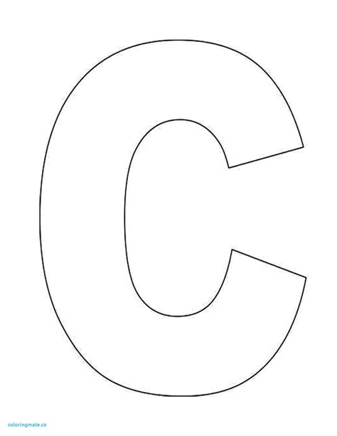 C Coloring Pages Preschool by Letter C Coloring Pages