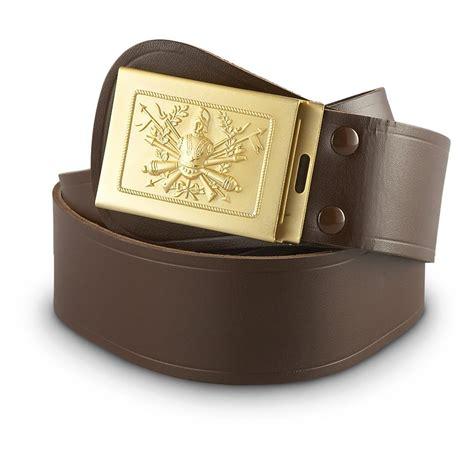 new italian surplus parade leather belt 636945