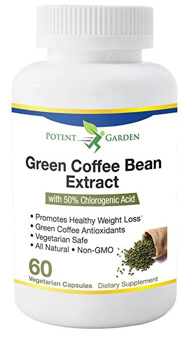 Potent Green Coffee Extract green coffee bean extract 50 chlorogenic acid