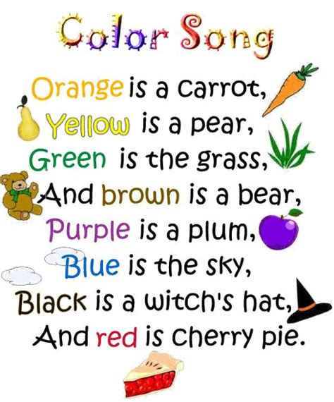 color song 78 best images about poems for kindergarteners on