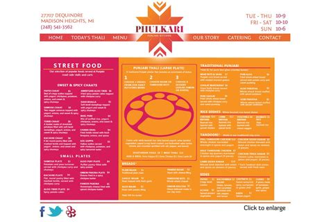 phulkari punjabi kitchen heights mi menu