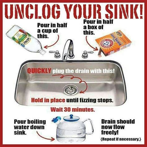 Kitchen Sink Clogged Up 17 Best Ideas About Unclogging Drains On Pinterest Diy Drain Cleaning Drain Cleaner And