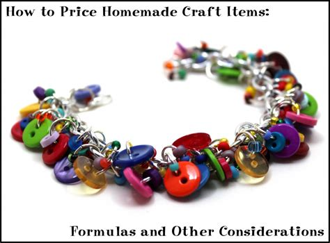 How To Price Handmade Items - how to price craft items formulas and other