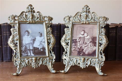 rococo home decor antique pair of brass rococo style ornate photo picture frames home decor 163 145 00 picclick uk