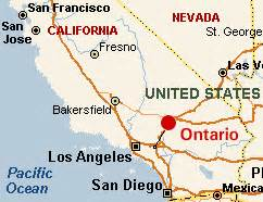ontario california map