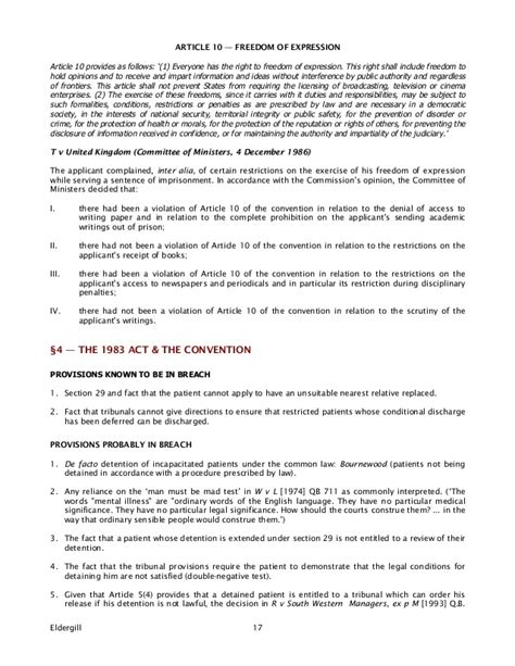 section 3 of the human rights act human rights act and mental health