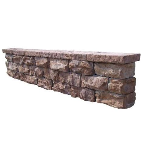 112 in fossill brown outdoor decorative concrete seat