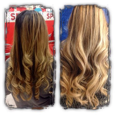 balayage highlights before and after home kit before and after turned grown out highlights into ombre