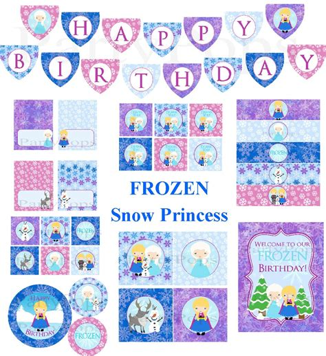 printable party decorations frozen frozen birthday downloads party invitations ideas