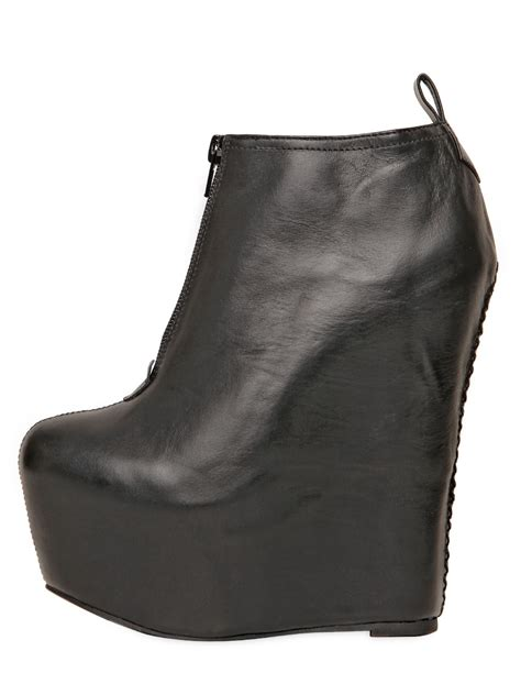 Wedges Blackkelly 2 jeffrey cbell 160mm two leather wedge ankle boots in black lyst
