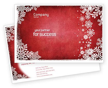 christmas theme postcard template in microsoft word adobe