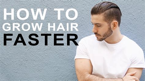 how to grow out boys hait how to grow hair faster longer tips to grow men s hair