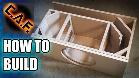 build  subwoofer box youtube