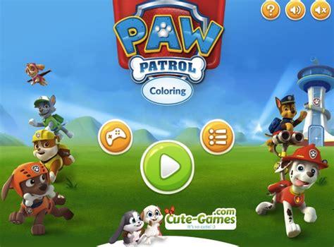 paw patrol games games kids online