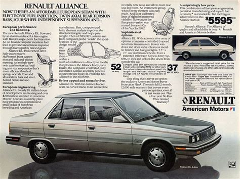 1985 renault alliance 2183 best american car auto ads 1920 1960 s images on
