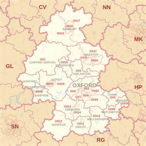 Image result for OX postcode area