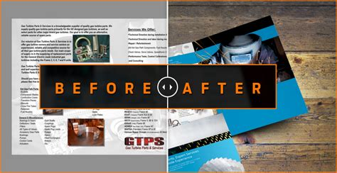 before after design before and after industrial turbine brochure brochure