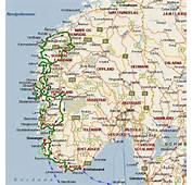 Mappa Stradale Norvegia Centro Sud Mappe