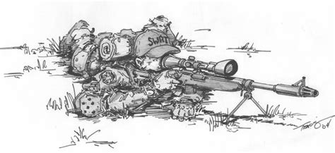 army sniper coloring pages image gallery sniper drawings