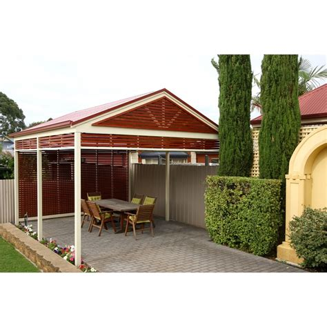 Softwoods 3 6 X 3 0m Pre Cut Gable Freestanding Colorbond Freestanding Pergola Kit